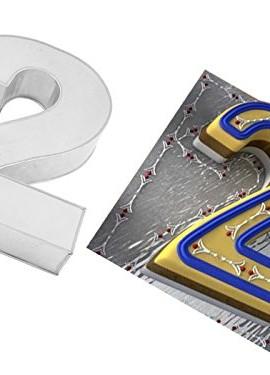 EURO-TINS-Teglia-grande-numero-DUE-per-dolce-di-compleanno-o-ricorrenza-misura-355-x-254cm-profondit-76cm-0
