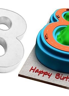 EURO-TINS-Teglia-piccola-numero-OTTO-per-dolce-di-compleanno-o-ricorrenza-misura-25cm-x-18cm-profondit-6cm-0