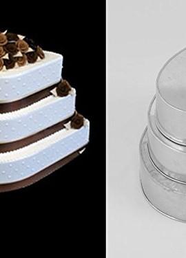 EURO-TINS-teglia-per-torta-nuziale-4-strati-Lacrima-set-da-4-15cm-20cm-25cm-e-30cm-0