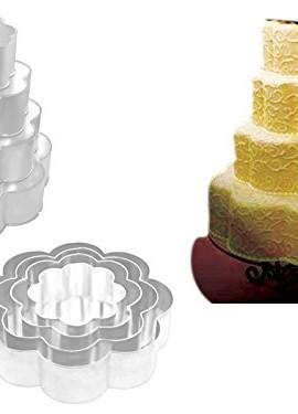 EURO-TINS-teglia-per-torta-nuziale-4-strati-Petalo-set-da-4-15cm-20cm-25cm-e-30cm-0
