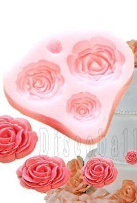 Stampo-in-Silicone-a-4-Rose-per-Decorazione-delle-Torte-Topper-Fondente-Fimo-Sugarcraft-0